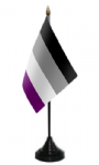 Asexual Pride Desk / Table Flag with plastic stand and base